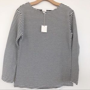NWT A NEW DAY Striped Black and Cream Top SZ S